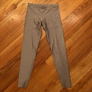 American Apparel shiny leggings sz small